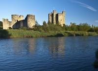 Trim Castle and the River Boyne in a spring dawn