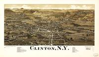 Aerial View of Clinton, New York (1885)