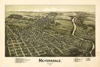 Aerial View of Meyersdale, Pennsylvania (1900)