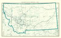 Post Route Map of Montana 1898 by Gallatin History Museum