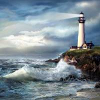 A Light of Hope, Pigeon Point Lighthouse Art Prints & Posters by Gina Femrite