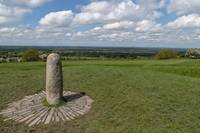 Stone of Destiny with view from Hill of Tara