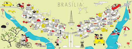 Brasilia Brazil Food Map by Anna Mendes