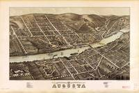 Bird's eye view of Augusta, Maine (1878)