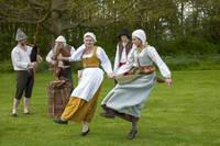 Tudor dancers and musicians