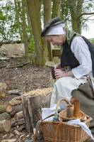 Tudor woodcutter woman