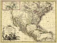 L'Amérique Septentrionale, Map of North America (1