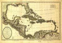 Map of the West Indies and Mexican Gulf (1806)