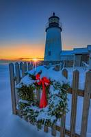 Christmas Wreath and Pemaquid Point