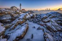 New Year's Morning at Portland Head Lighthouse