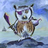 Captain Hoot Art Prints & Posters by penny pausch