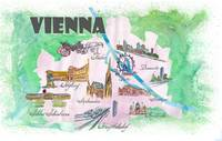 Vienna Fine Art Print Retro Vintage Map