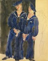 Charles Demuth 1883 - 1935 TWO SAILORS URINATING
