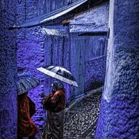 A Chat in Chefchaouen - Morocco Art Prints & Posters by Christopher Byrd