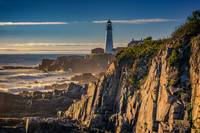 Portland Head Light and the Shores of Casco Bay