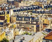 Paris Rooftops in Blue