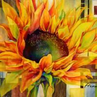 Sunflower Canopy Art Prints & Posters by Hailey E. Herrera Watermedia