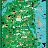 Appalachian Trail Map by Nate Padavick Art Prints & Posters by They Draw & Cook & Travel