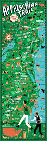Appalachian Trail Map by Nate Padavick