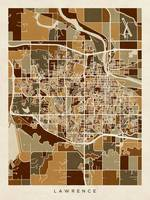 Lawrence Kansas City Map