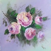 Floral Roses Painting Art Prints & Posters by Velvet Tetrault