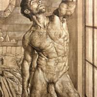 MaleNude-Standing #1 - in Oil Sketch Art Prints & Posters by Julian Hsiung