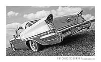 1957 Oldsmobile Rear bw