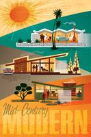 Mid Century Modern Houses Poster