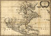 Amerique Septentrionale, Map of North America (165