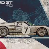 Ford Gt40 Art Prints & Posters by Inna Ivanova