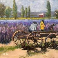 Lavender Fields Art Prints & Posters by MaryAnne Ardito
