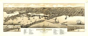 Aerial View of Duluth, Minnesota (1883)