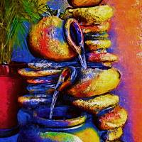 The Fountain Of Pots Art Prints & Posters by Kirt Tisdale