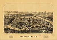 Aerial View of Schaghticoke, New York (1889)