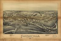 Aerial View of Factoryville, Pennsylvania (1891)