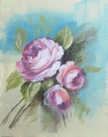 Floral Painting of Roses