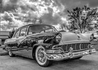 1956 Ford Fairlane / HDR/ Black & White