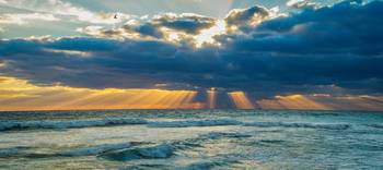 Heavenly Sunrise Panorama at Riviera Beach