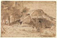 Cottage near the Entrance to a Wood , Rembrandt (R