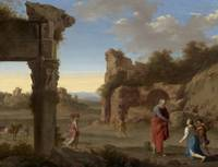 Cornelis van Poelenburch,  The Prophet Elijah and