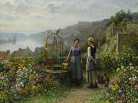 Daniel Ridgway Knight 1839-1924 AT THE WELL
