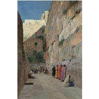 Eugène Girardet 1853 - 1907   THE WAILING WALL