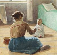Hanna Rönnberg, Mother and Child (1890)