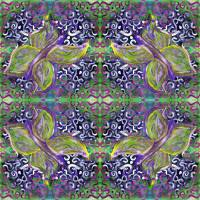 butterfly on green002cp w swirls and dots pattern Art Prints & Posters by Dawna Morton