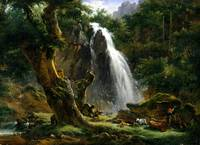 Achille Etna Michallon Waterfall at Mont-Dore