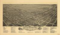 Bird's eye view of Greensboro, North Carolina (189