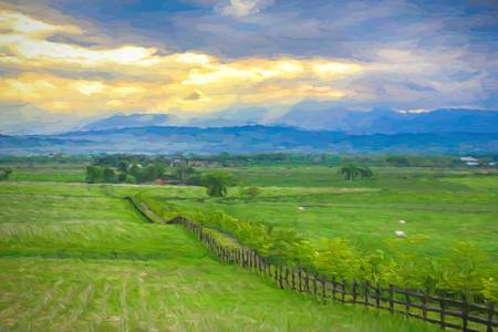 Country Fence to The Mountains