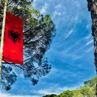 The Flag of Albania Art Prints & Posters by Matthew Green