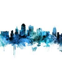 """Kansas City Missouri Skyline"" by ModernArtPrints"