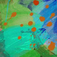 Turquoise Drip Art Prints & Posters by Yvonne Coleman-Burney